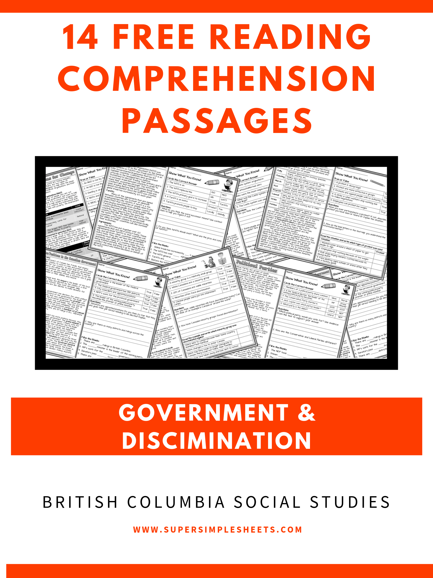 14 Free Reading Comprehension Passages For British