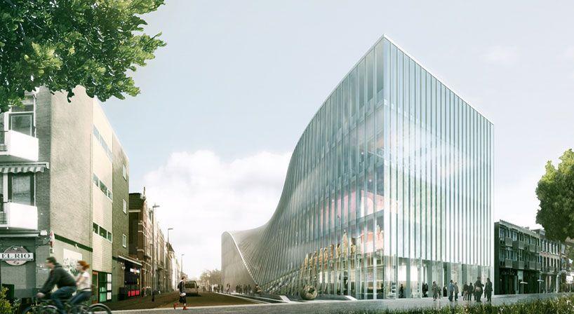 bjarke ingels group proposes ArtA arnhem cultural center in the netherlands