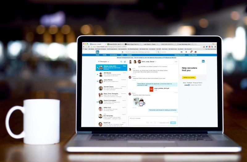 linkedin finally updates messages so you can send emoji and gifs