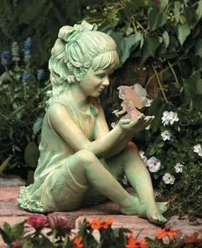 Exterior Accents Girl W Fairy Solar Garden Statue Garden Figurines Fairy Garden Fairy Statues