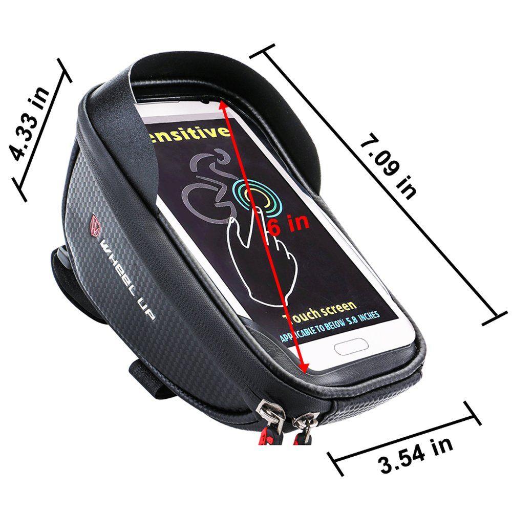 Bike Handlebar Phone Holder Ponch Bags Waterproof TPU Touch Screen 6.0 inch NEW