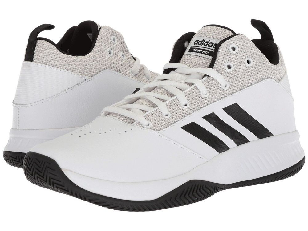 b4cfc0e79da Adidas CF Ilation 2.0 MID WHITE BLACK BASKETBALL SHOES Size 11 4E  adidas   BasketballShoes
