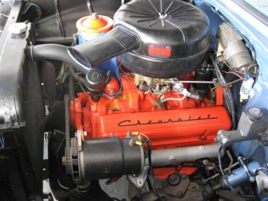 The Chevrolet 283-cubic-inch V-8 engine was the second in