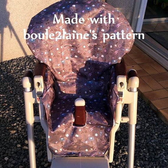 Pdf Pattern Diy High Chair Cover Patron Et Tuto Pdf Housse Chaise Haute Prima Pappa Diner Highchair Cover Pattern High Chair