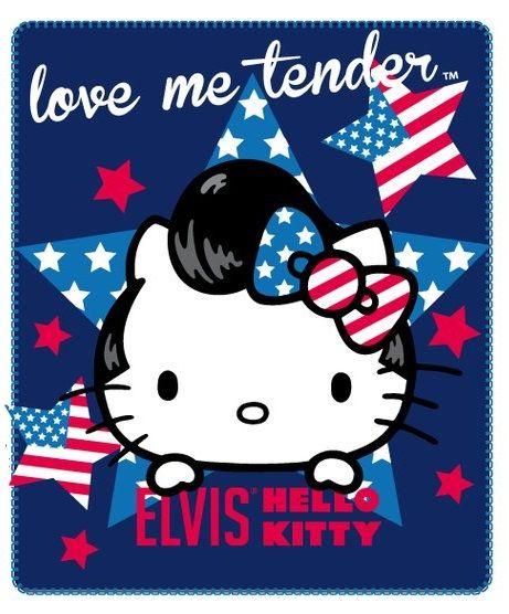 Detská deka so vzorom Hello Kitty USA