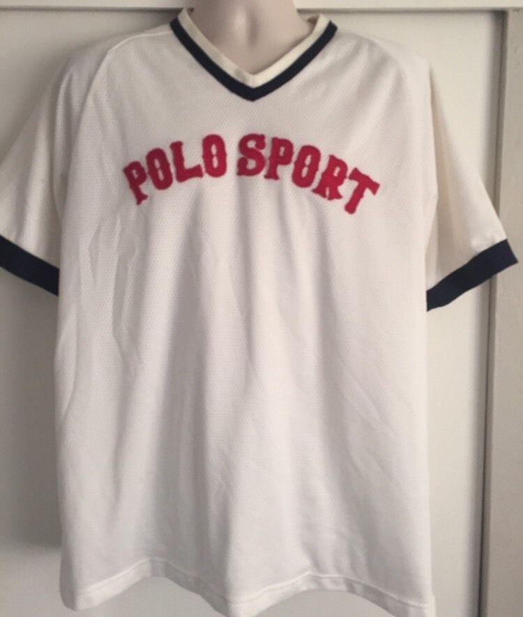 Ralph Lauren Polo Sport Baseball Baseball Jersey RARE 90's
