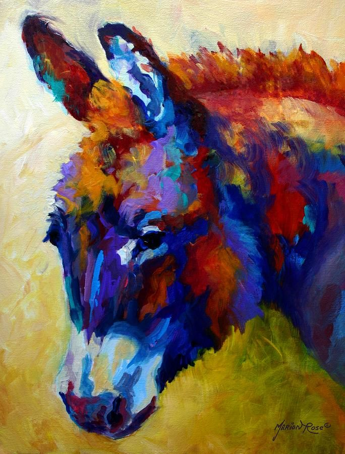Burro II Painting by Marion Rose - Burro II Fine Art Prints and Posters for Sale