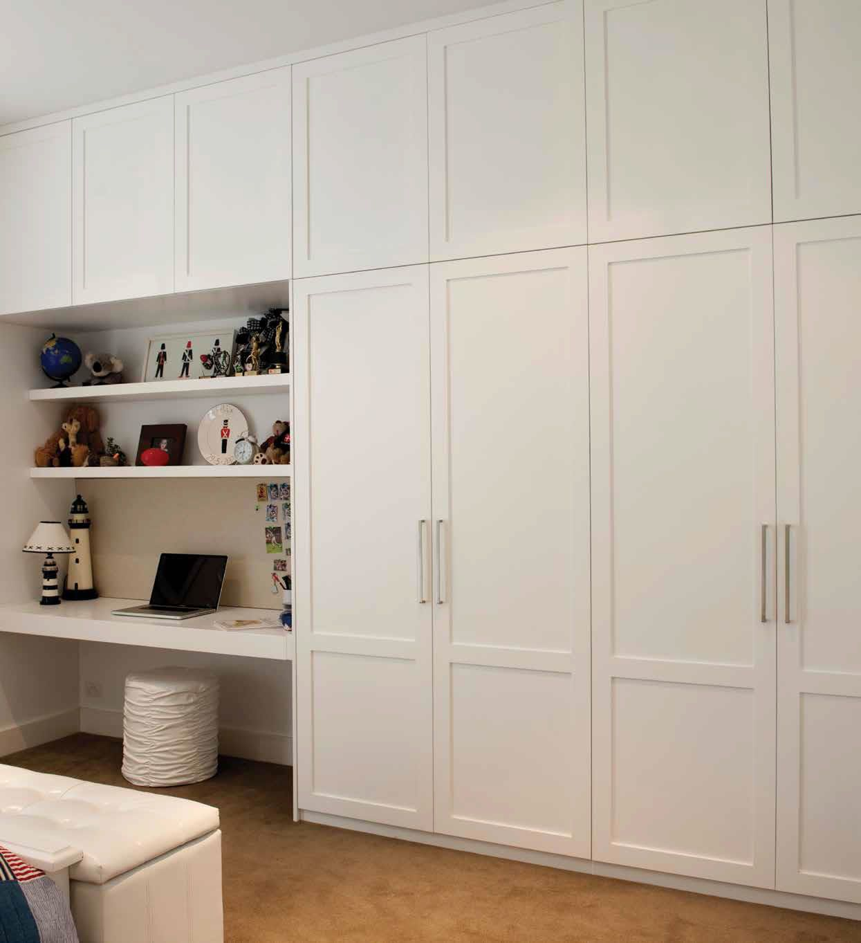 built in wardrobe and desk  Google Search  LOVELL DOORS