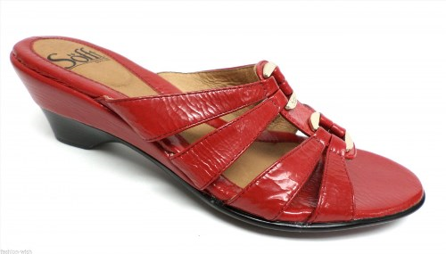 31.50$  Buy here - http://viowg.justgood.pw/vig/item.php?t=k6ze5t053986 - New SOFFT Red Patent Slide Sandals Size 6.5 or Shoes 6 1/2 31.50$