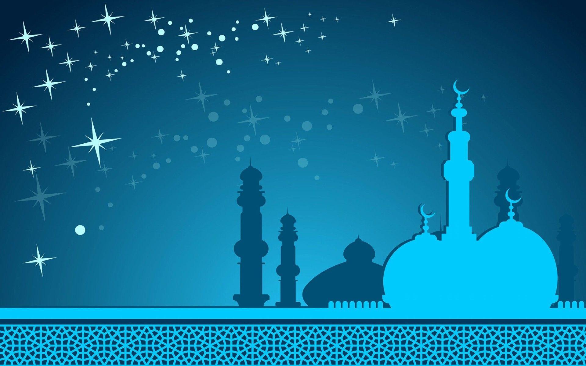 Full HD Animated Mosque Beautiful Desktop Wallpaper