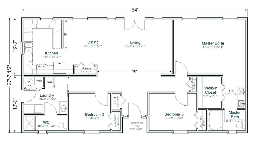 1600 Square Feet House Plans Check more at https//www