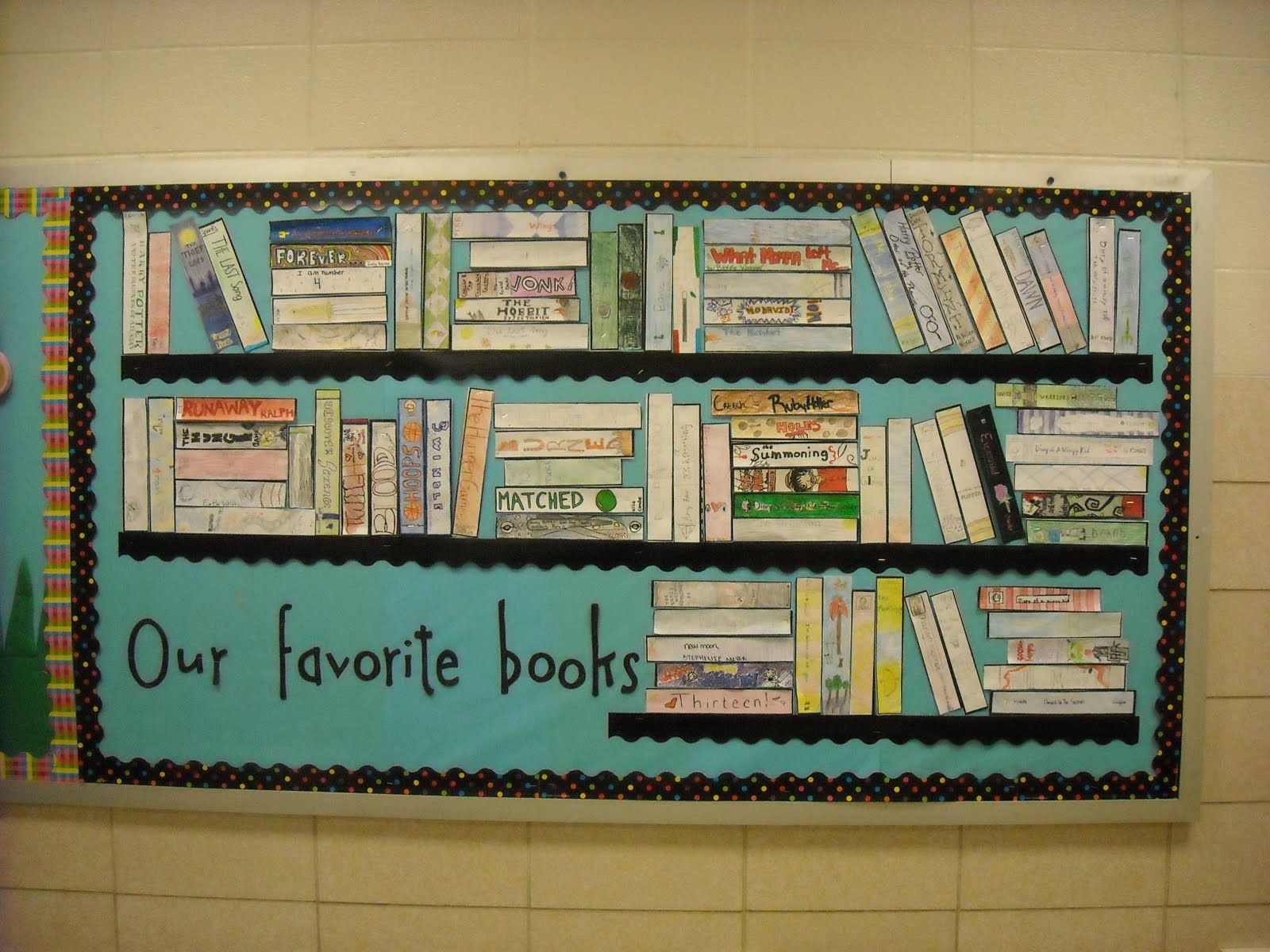 Classroom Review Ideas ~ Favorite books bulletin stealing this for my elective