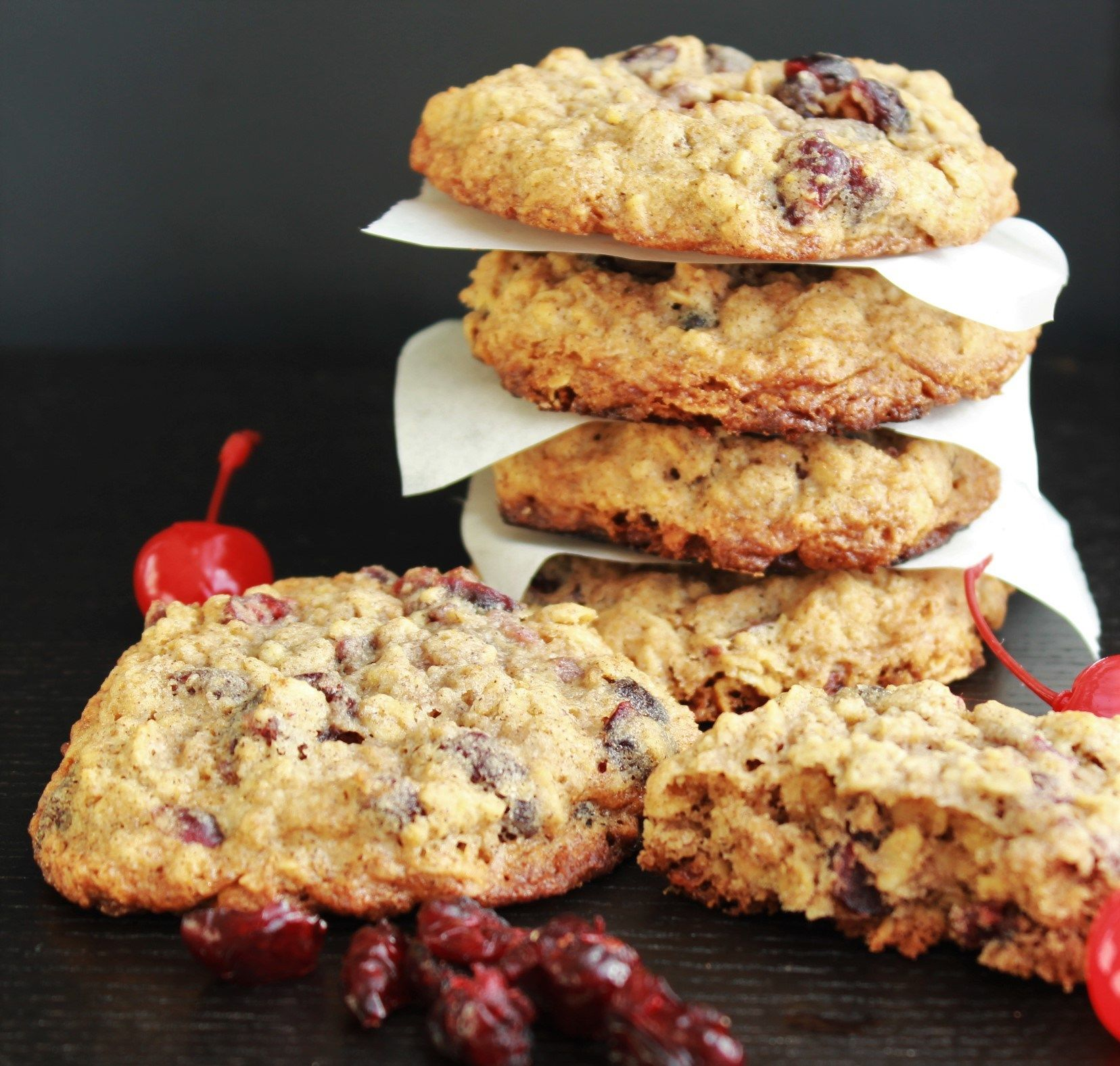 CherryCranberry Oatmeal Cookies Recipe Oatmeal