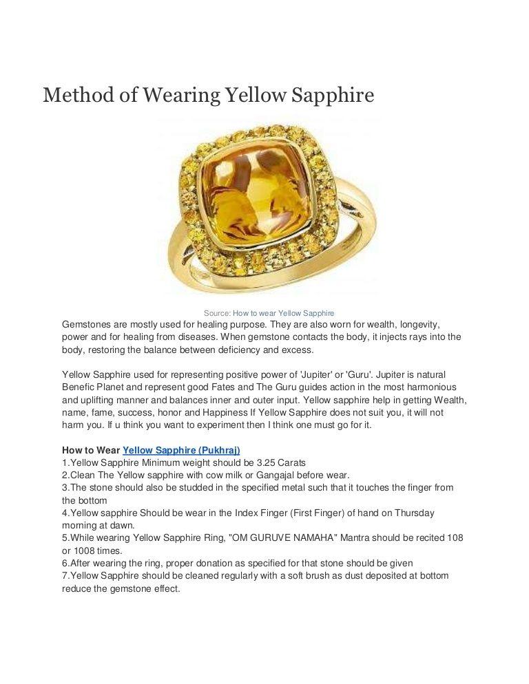 How to wear yellow sapphire   Gemstones   Pinterest