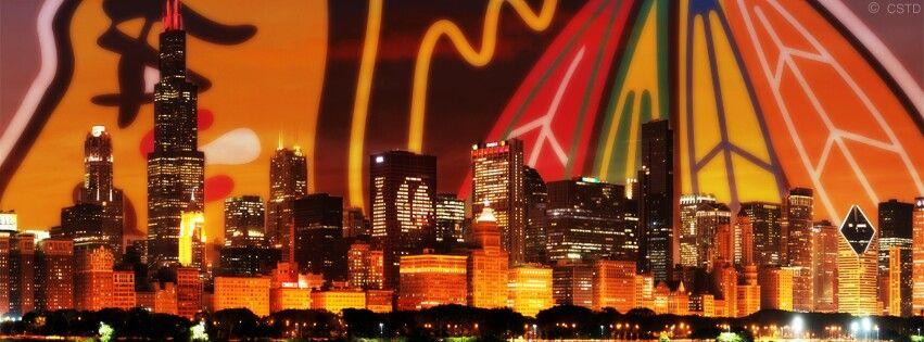 Blackhawks under Chicago skyline Sports news update