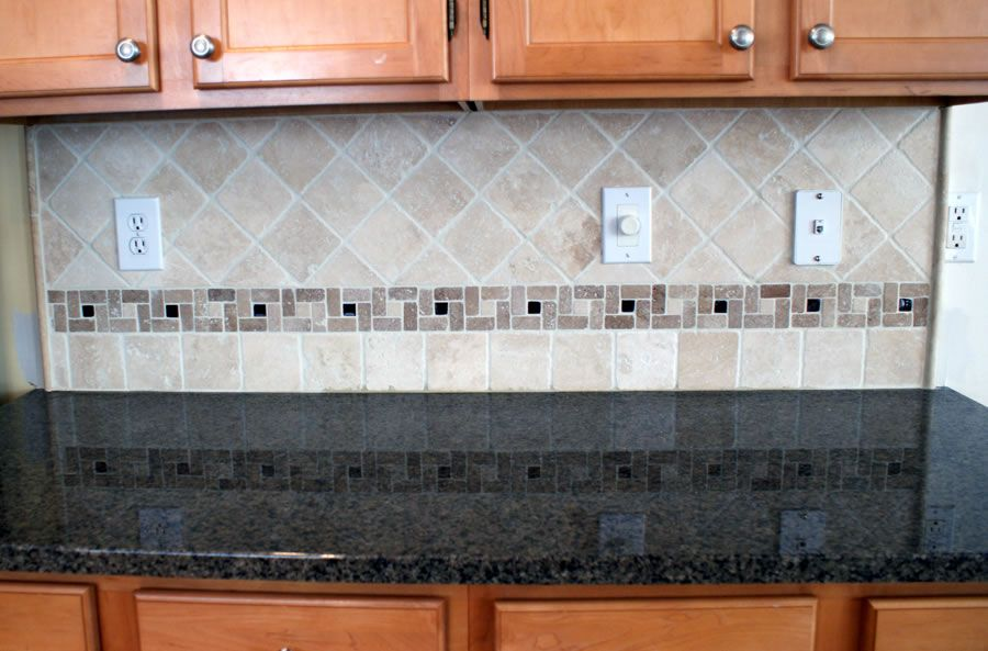 Photos of backsplash for traditional ranges glass insert - Decorative tile for backsplash in kitchens ...