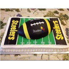 Steelers Football Field Sheet Cake with Football Cake ...
