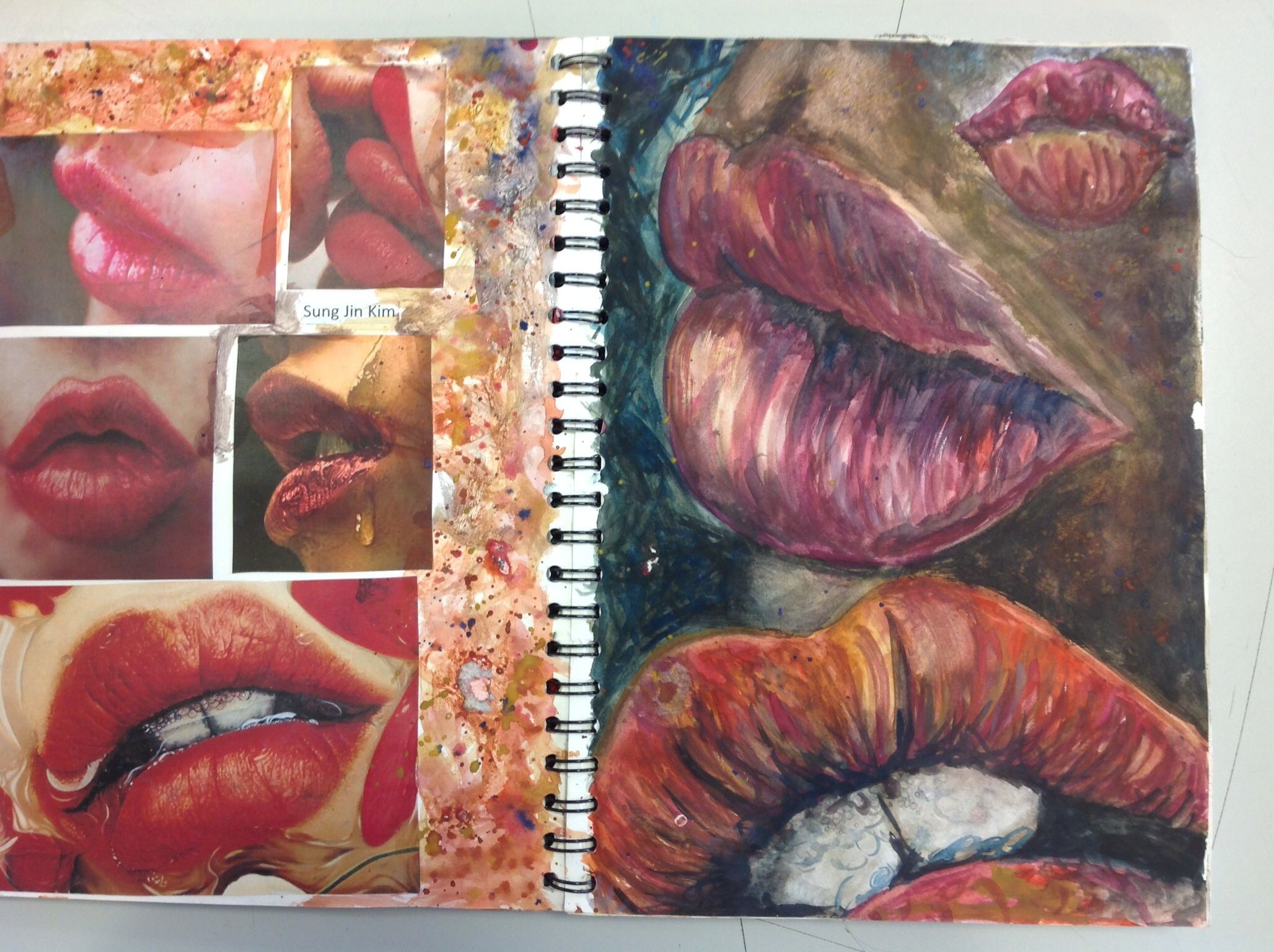 nuggwifee☽ ☼☾ a r t sketchbooks lips studies alzheimer s and dementia ridden individuals lack a voice they have an inner voice which is full and vibrant and ready