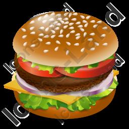 Fast Food Hamburger Icon Png Ico Icons 256x256 128x128 64x64 48x48 32x32 24x24 16x16 Food Hamburger Fast Food