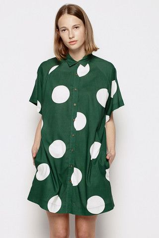 Vanishing Elephant Raglan Shirt Dress Giant Polka – Eclectic Ladyland
