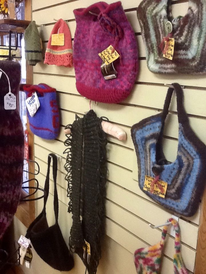 Handmade purses & accessories at the Frontier Town Arts & Crafts Mall.