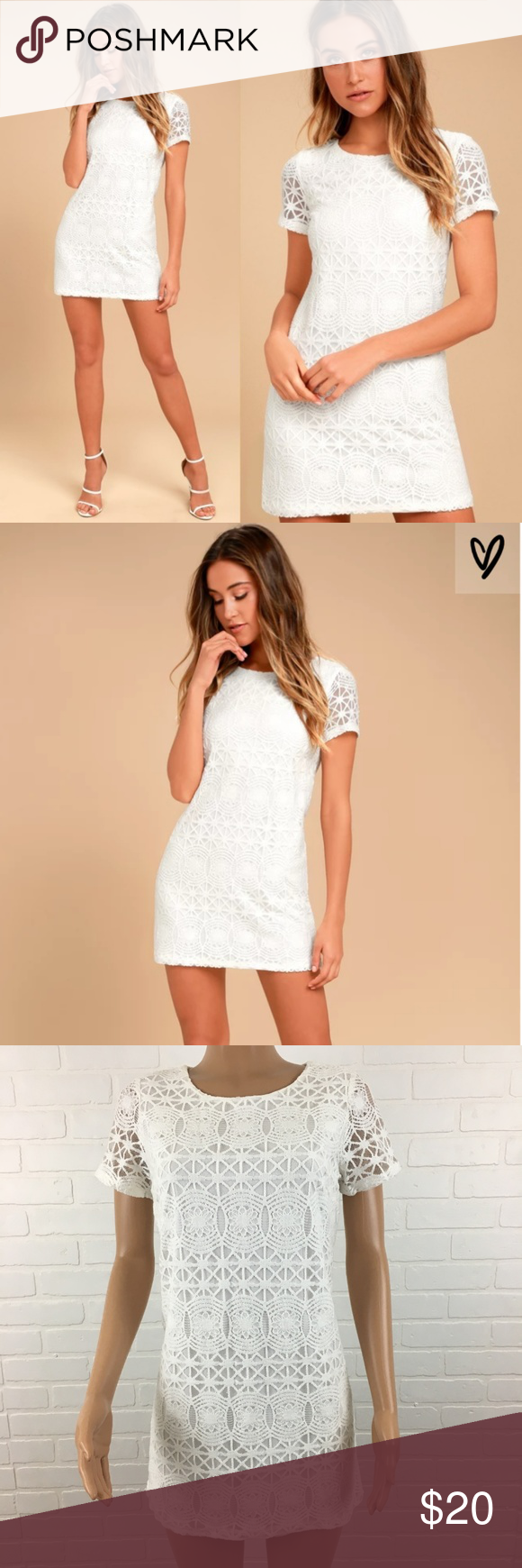 Lulus Love You For Eternity White Lace Shift Dress White Lace Shift Dress Lace Shift Dress Dresses [ 1740 x 580 Pixel ]