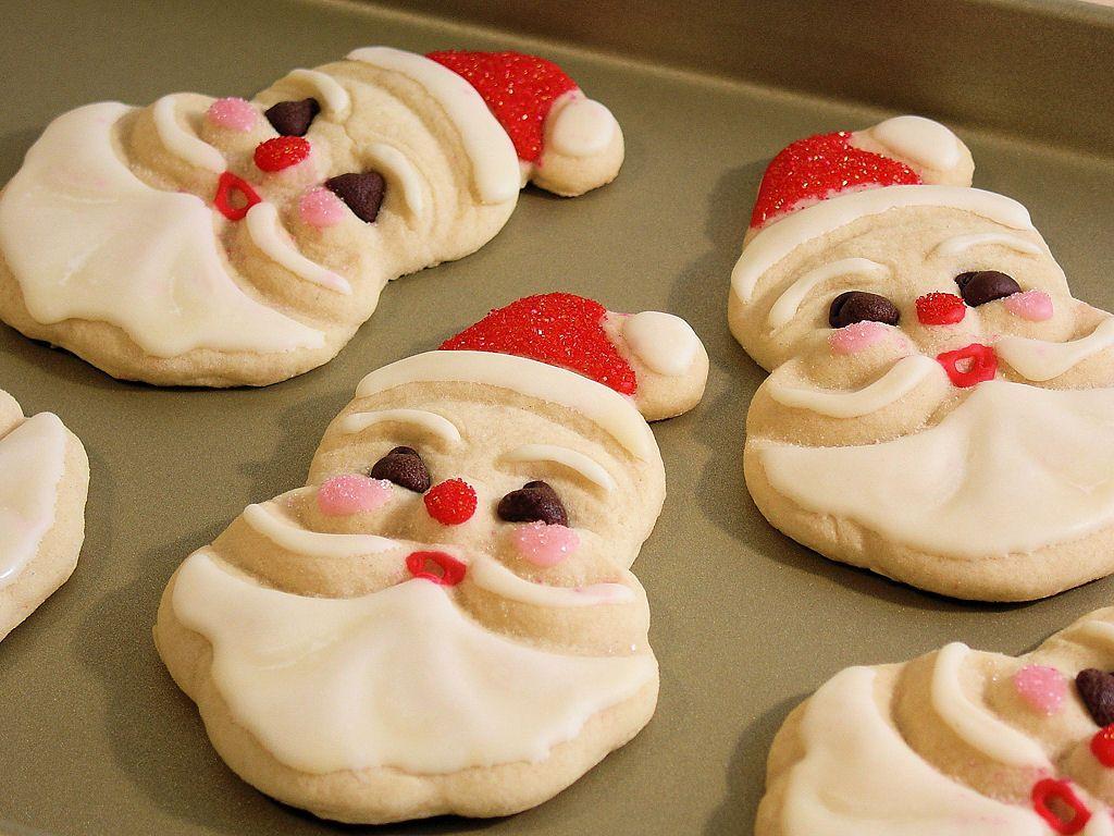 Santa Claus Sugar Cookies 0017 Old Fashioned Jolly Santa Sugar