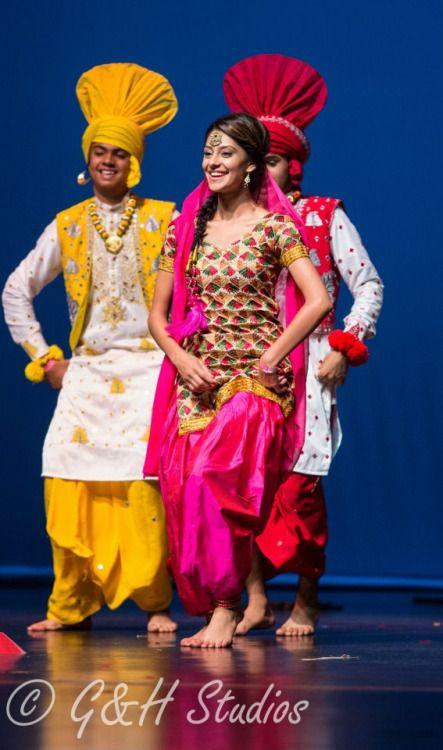 Punjabi bhangra dance dress