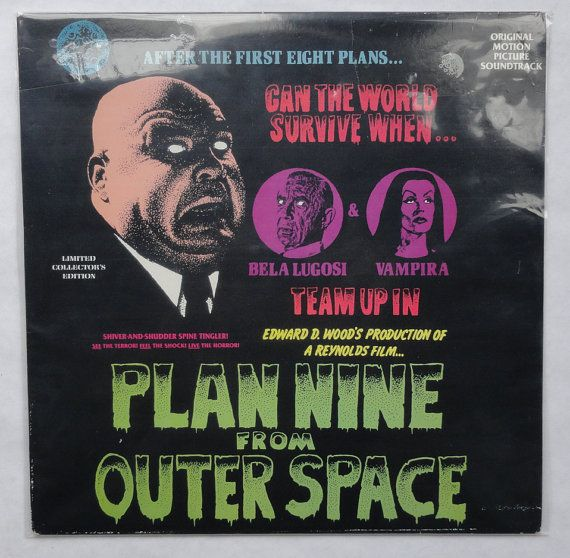 Rare Plan 9 From Outer Space Vinyl Soundtrack 1986 by MovieVinyl, $49.99