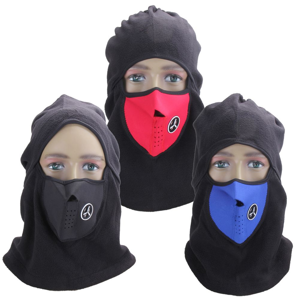 Ski Full Face Mask Cover Hat Cap Motorcycle Thermal Fleece Balaclava ...