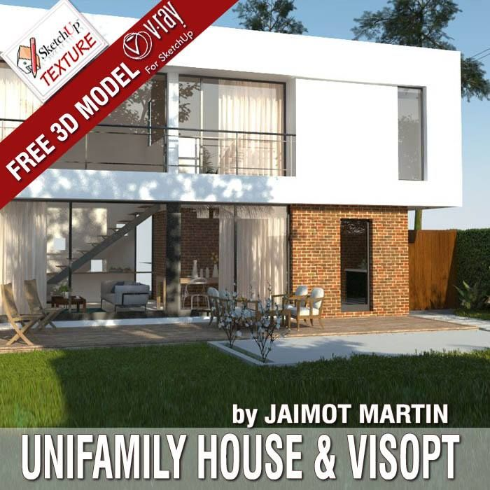 Great Free 3d Sketchup Model UNIFAMILY HOUSE Available In Sketchup 13 With  Interior And Exterior #