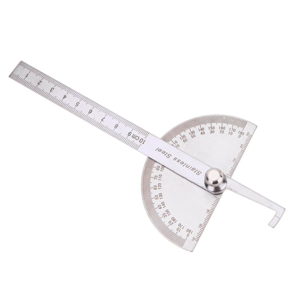 10 cm 180 grad winkelmesser finder rotary meßlineal edelstahl für