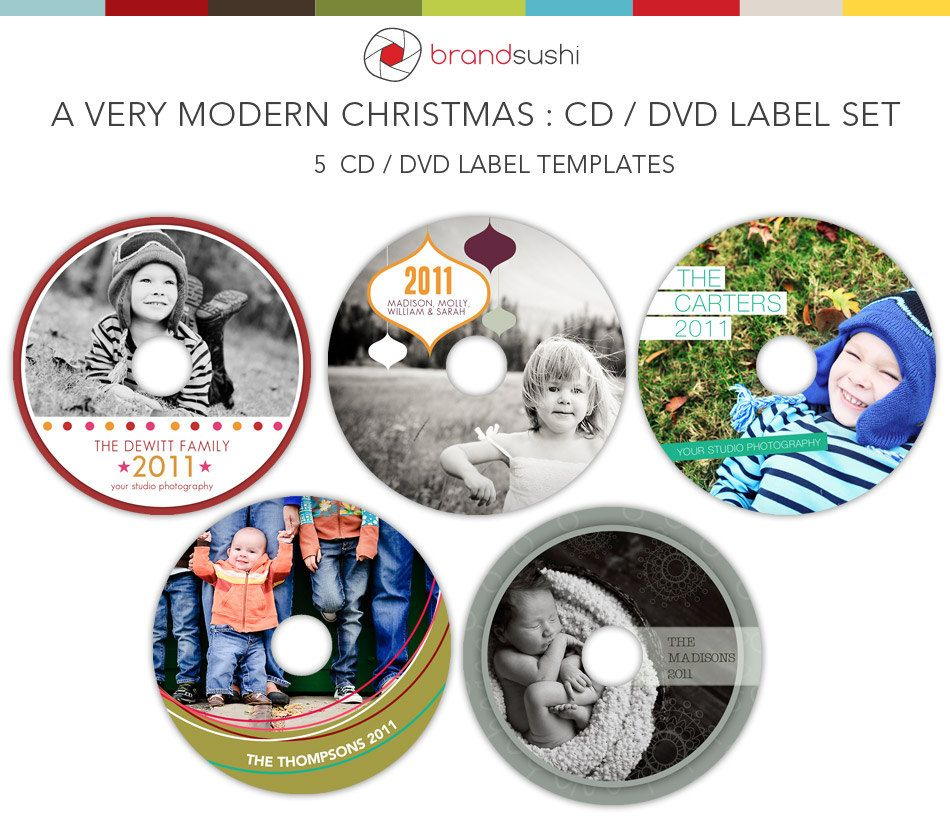 A Very Modern Christmas Holiday Cd  Dvd Label Templates   Psd