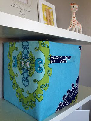 Diy Storage Bins 5 00 Bin From Walmart Covered With Fabrics That Match The