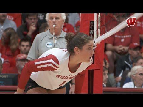 2016 Wisconsin Volleyball Highlights Volleyball Fun Sports Lauren