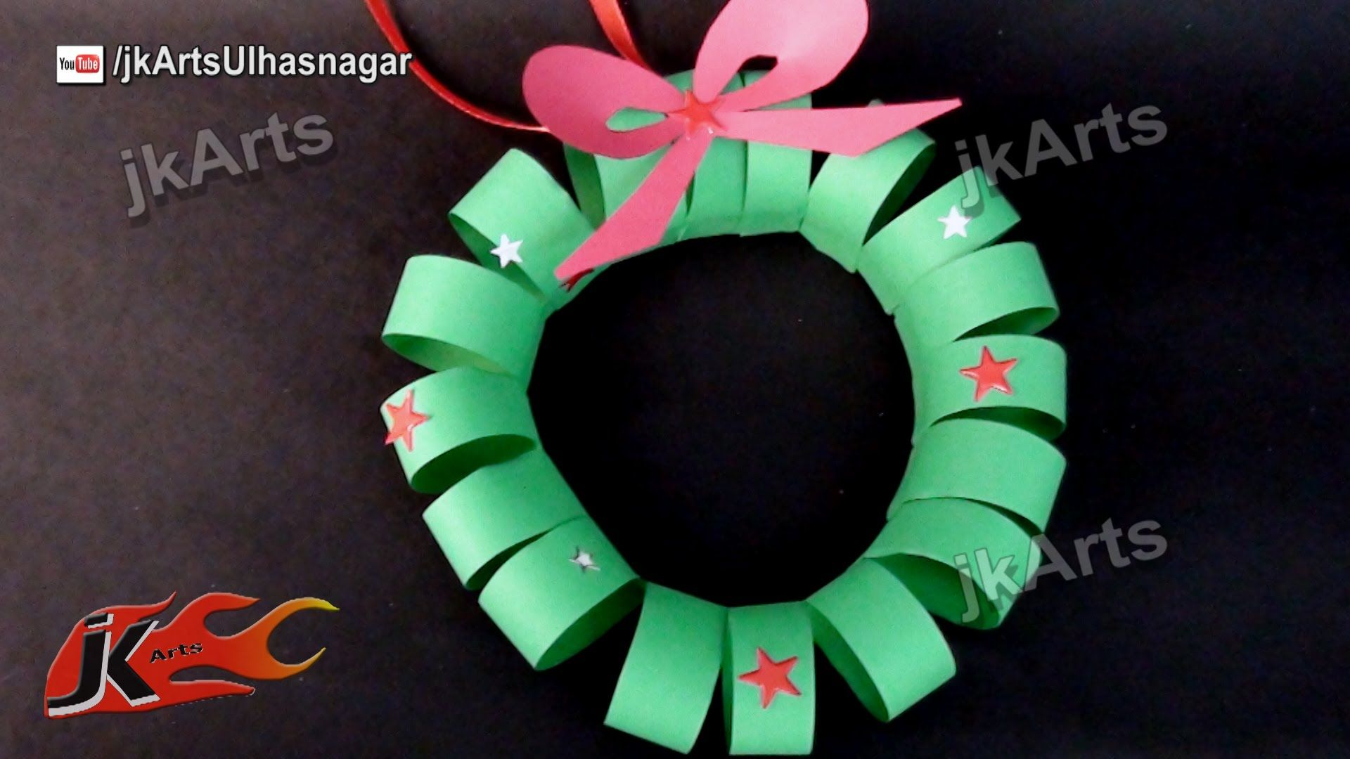 How To Make Christmas Paper Wreath Easy Craft For Kids Jk Arts