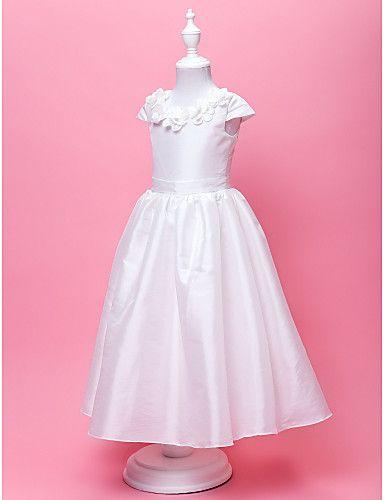 408fbfc8fd46 A-Line   Princess Floor Length Flower Girl Dress - Taffeta Short ...