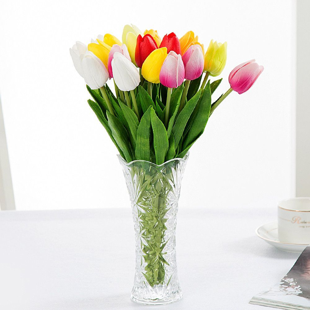 30pcs lot tulip artificial flower real touch pu bride bouquet for cheap flowers real touch buy quality real touch directly from china artificial flowers suppliers tulip artificial flower 2016 real touch pu artificial izmirmasajfo