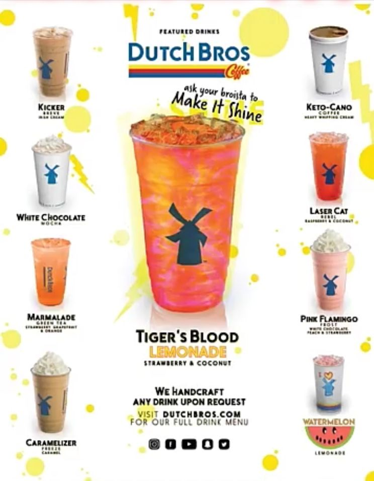Dutch Bros Dutch Bros Coffee Dutch Bros Drinks Dutch Bros Dutch Bros Menu