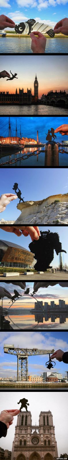 Artist Transforms Famous Landmarks Into Disney Scenes Using Only Paper (By Rich McCor)