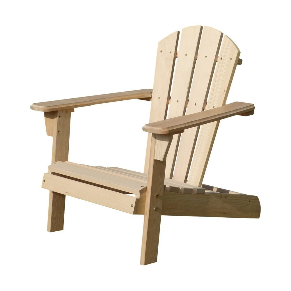 Turtleplay Unfinished Wood Kids Adirondack Chair Kit Products