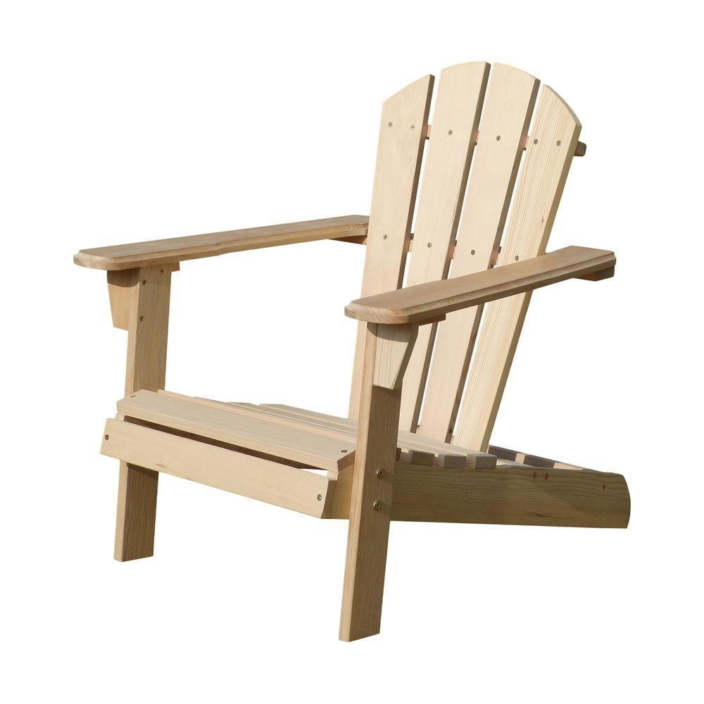 Turtleplay Unfinished Wood Kids Adirondack Chair Kit