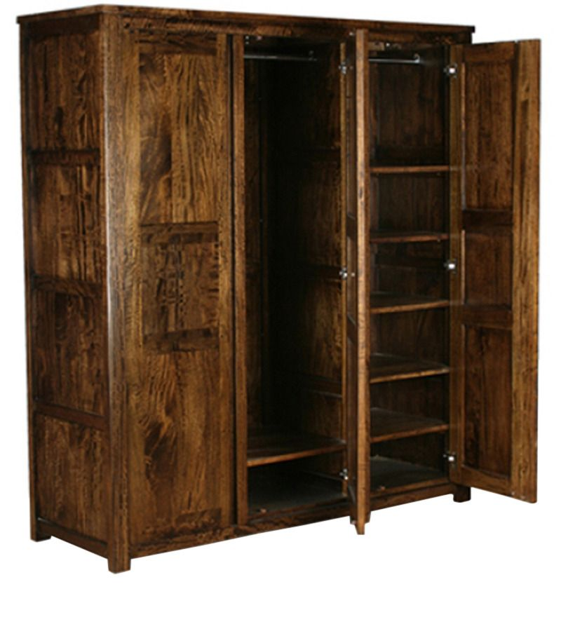 Torreon Solid Wood Wardrobe in Provincial Teak Finish by Woodsworth     Torreon Solid Wood Wardrobe in Provincial Teak Finish by Woodsworth by  Woodsworth Online   Contemporary