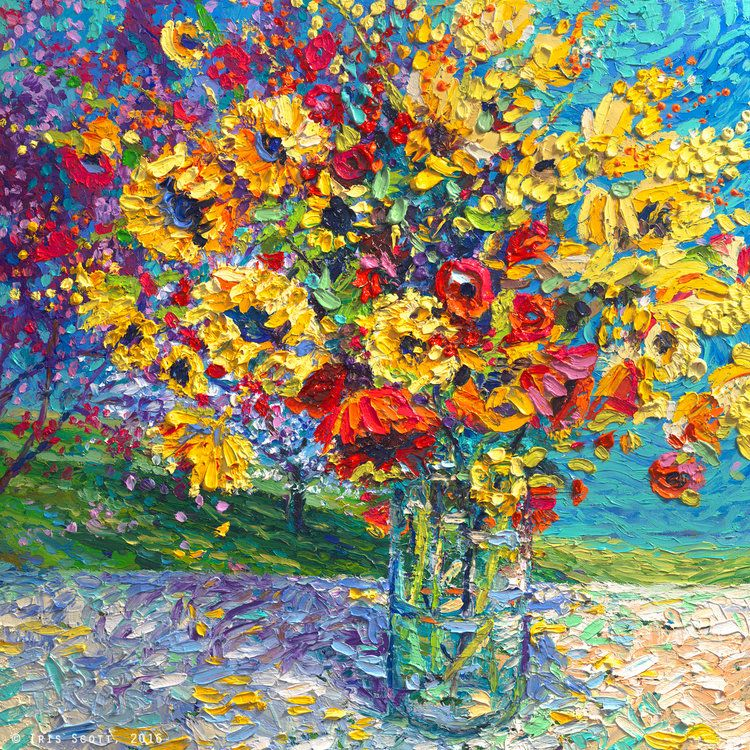 Pretty flower bouquet painting with nice shading.… | Painting ...