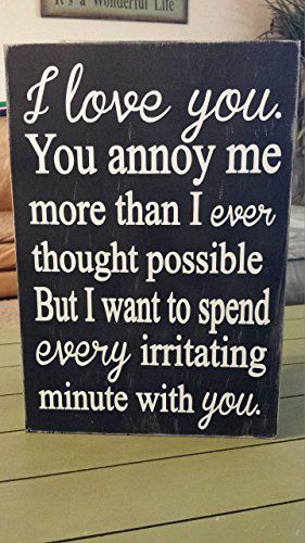 11x16 I Love You You Annoy Me More Than I Ever Thought Possible But I Want To Spend Every Irritating Minute Funny Wood Signs Relationship Quotes Funny Quotes