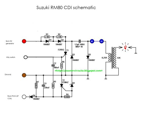 Schematic Diagram Of Motorcycle Cdi and Cdi Ignition ...