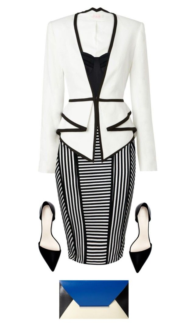 """""""Black and White Blazer"""" by amy-jean ❤ liked on Polyvore featuring Jane Norman, sass & bide, Zara, Amanda Wakeley and BCBGMAXAZRIA"""