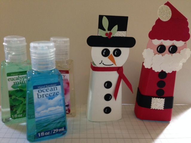 Meet Eddie The Snowman And Santa Hand Sanitizer Covers