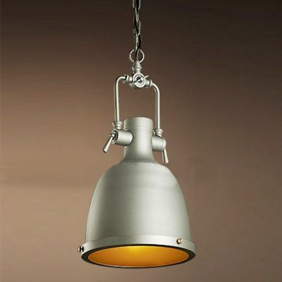 Nautical style one light pendant with dome bowl shade fashion style industrial lighting