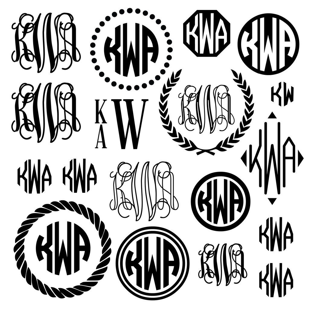 Monogram Madness Decal Set Monogram Decals Settings